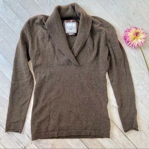 100% cashmere VERY SOFT shawl collar sweater